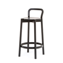 CASTOR BARSTOOL WITH BACKREST LOW ブラック
