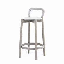 CASTOR BARSTOOL WITH BACKREST LOW グレイングレー