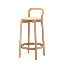 CASTOR BARSTOOL WITH BACKREST LOW ピュアオーク